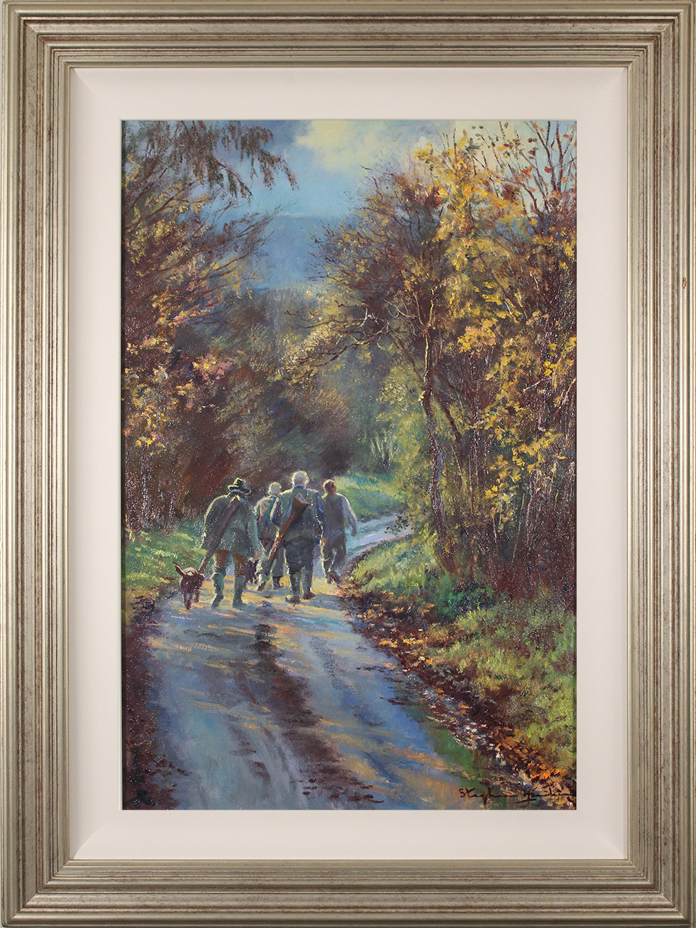 Stephen Hawkins, Original oil painting on canvas, An Early Start Click to enlarge