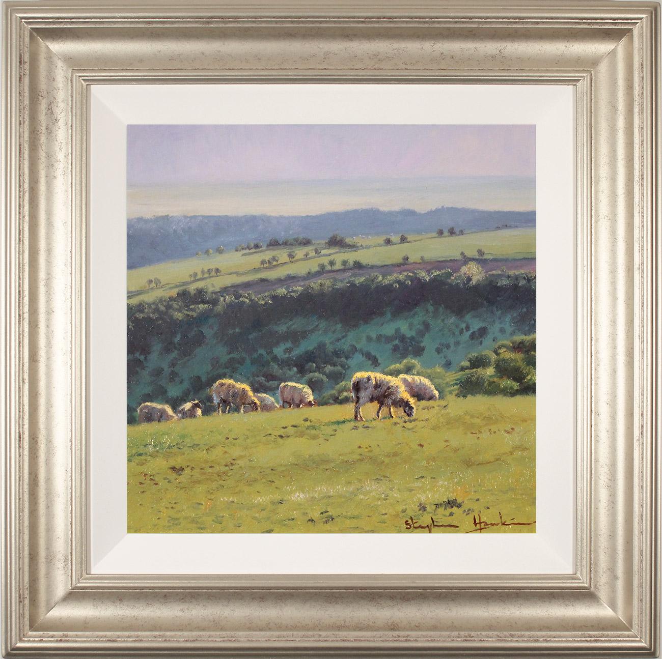 Stephen Hawkins, Original oil painting on panel, Summer Pasture, Swaledale Click to enlarge