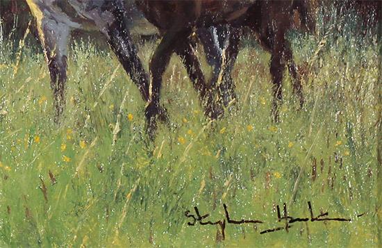 Stephen Hawkins, Original oil painting on panel, New Beginnings   Signature image. Click to enlarge
