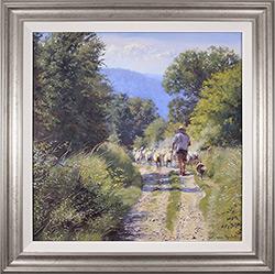 Stephen Hawkins, Original oil painting on canvas, The Summer Flock Medium image. Click to enlarge