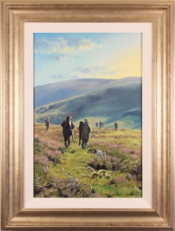 Stephen Hawkins, Original oil painting on canvas, Out on the Moors, North Yorkshire