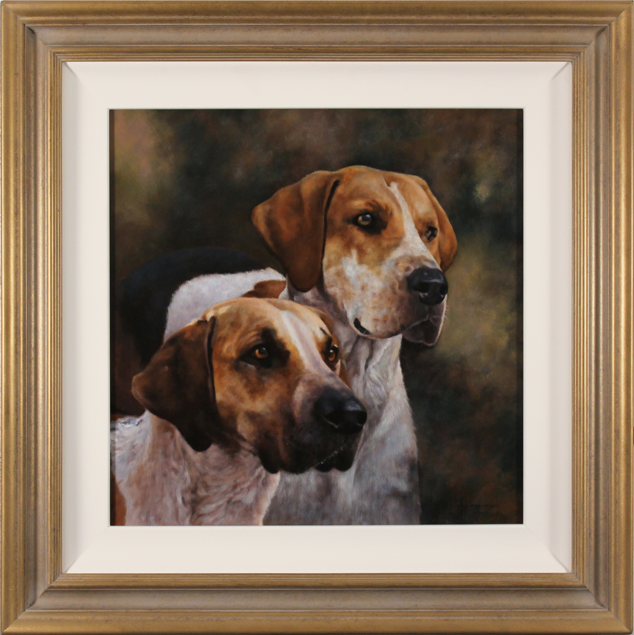 Stephen Park, Original oil painting on panel, Hounds Click to enlarge