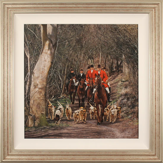 Stephen Park, Original oil painting on panel, The Hunt