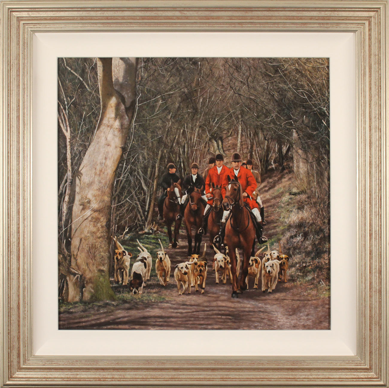 Stephen Park, Original oil painting on panel, The Hunt Click to enlarge