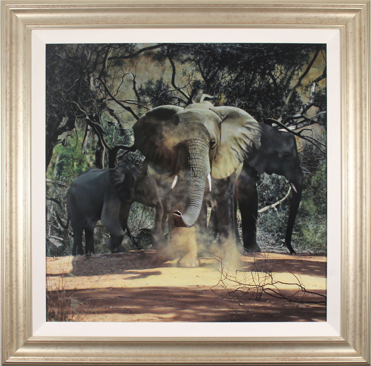 Stephen Park, Original oil painting on panel, Elephants Click to enlarge