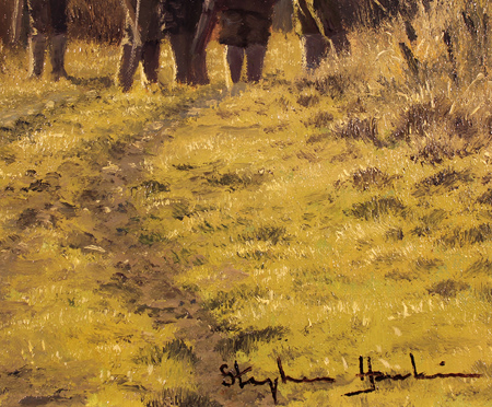 Stephen Hawkins, Original oil painting on canvas, The Shooting Party Signature image. Click to enlarge