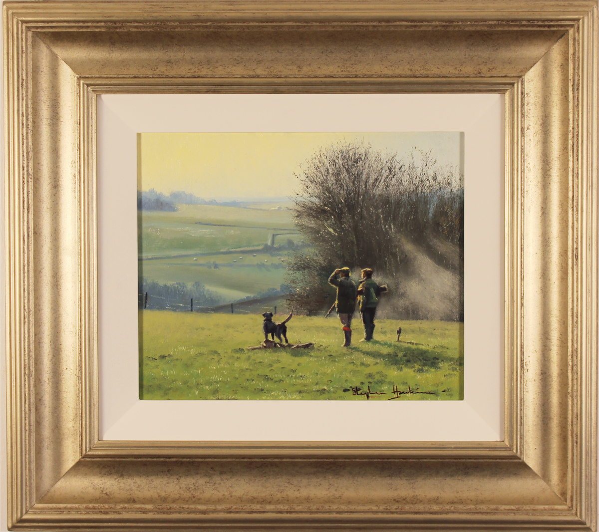 Stephen Hawkins, Original oil painting on canvas, The Country Pursuit, North Yorkshire Click to enlarge