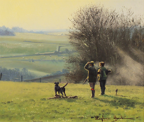 Stephen Hawkins, Original oil painting on canvas, The Country Pursuit, North Yorkshire No frame image. Click to enlarge