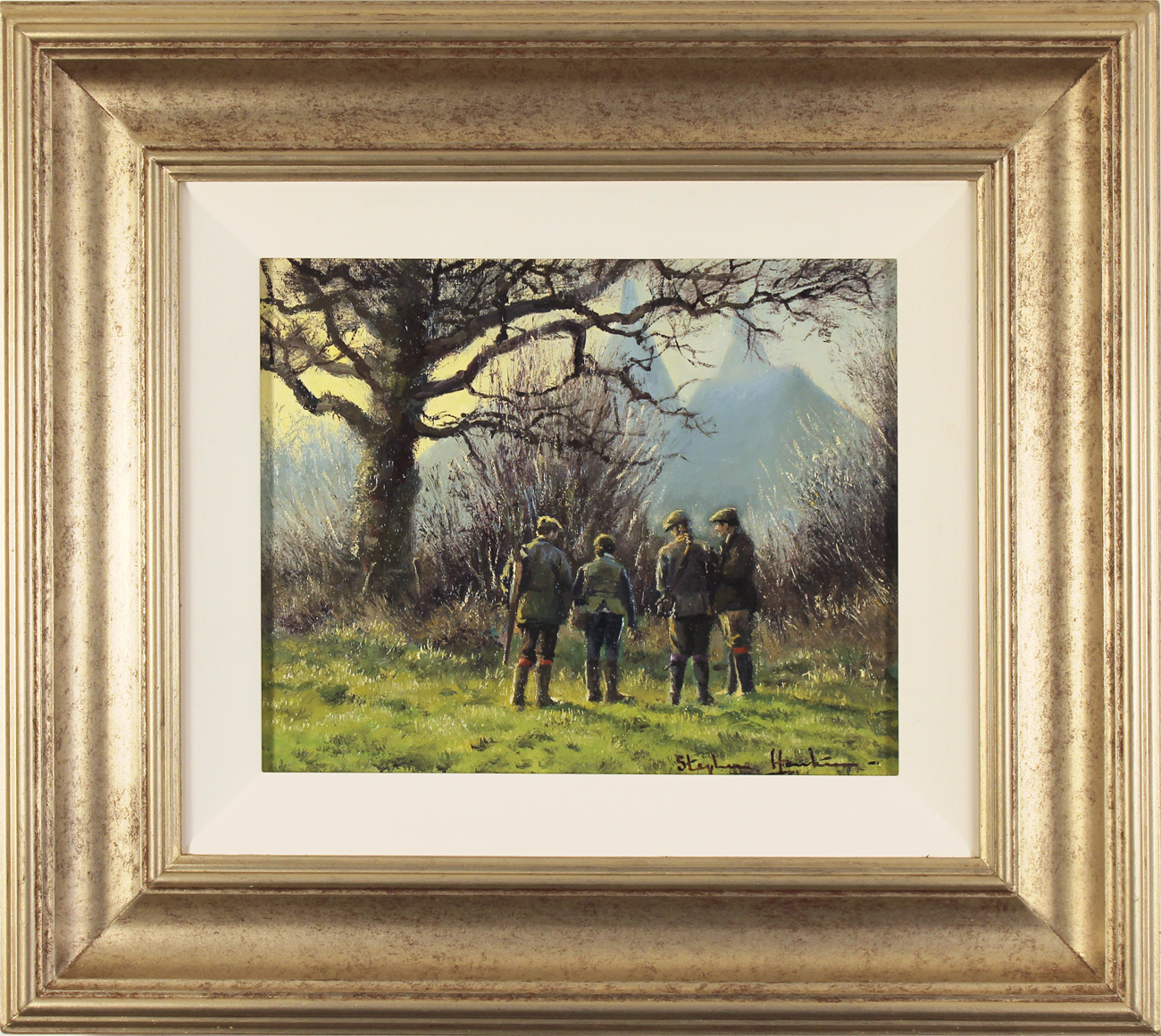 Stephen Hawkins, Original oil painting on canvas, The Shooting Party, North Yorkshire Click to enlarge