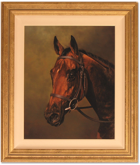 Stephen Park, Original oil painting on canvas, Race Horse Click to enlarge