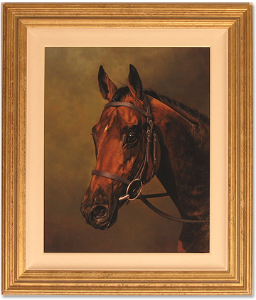 Stephen Park, Original oil painting on canvas, Race Horse No frame image. Click to enlarge