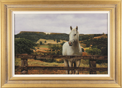 Stephen Park, Original oil painting on panel, White Horse at Kilburn