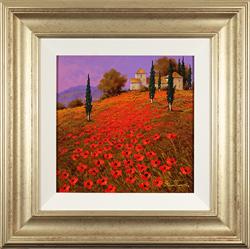 Steve Thoms, Original oil painting on panel, Poppies