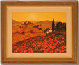 Steve Thoms, Original oil painting on canvas, Poppy Field