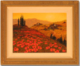 Steve Thoms, Original oil painting on canvas, Tuscan Poppy Field