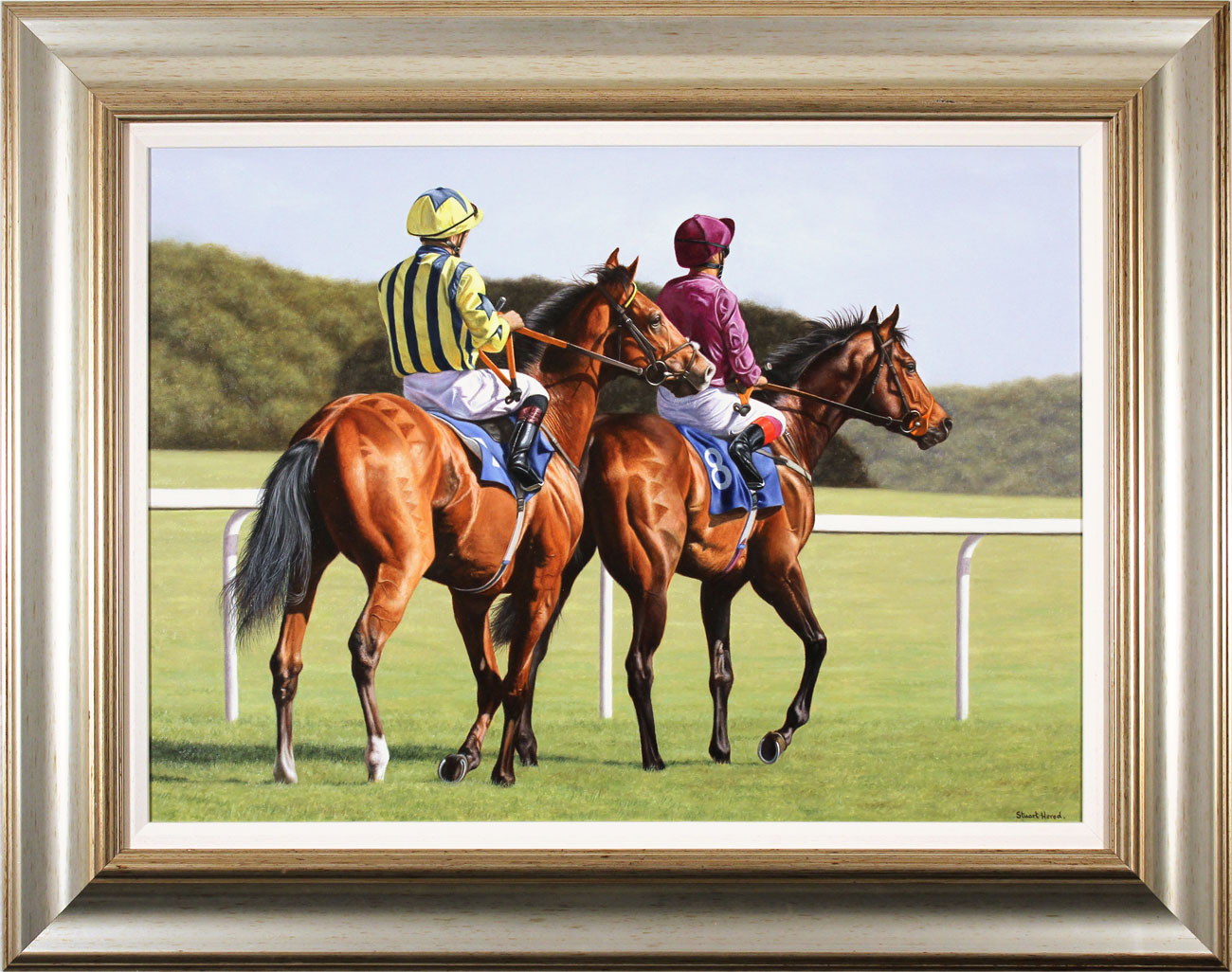 Stuart Herod, Original oil painting on canvas, Off to the Starting Gate Click to enlarge