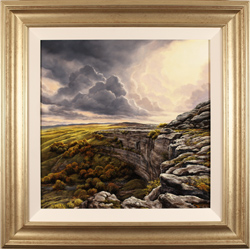 Suzie Emery, Original acrylic painting on board, Malham Cove, Yorkshire
