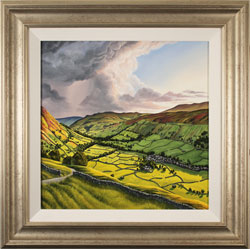 Suzie Emery, Yorkshire Dales, Original acrylic painting on board