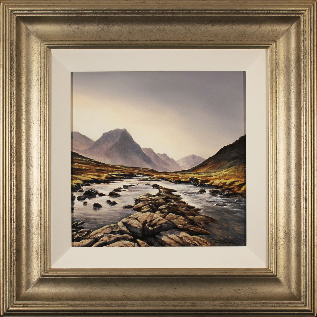 Suzie Emery, Original acrylic painting on board, Glen Etive, Scotland Click to enlarge