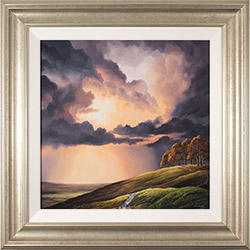 Suzie Emery, Original acrylic painting on board, Chiltern Ridgeway near Avebury  Medium image. Click to enlarge