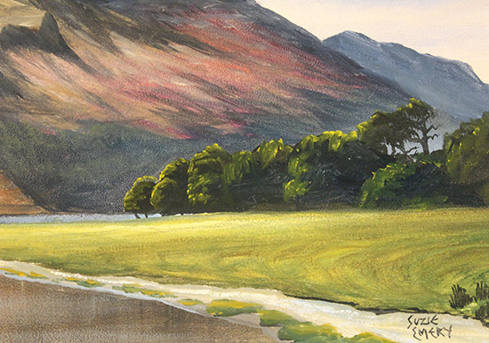 Suzie Emery, Original acrylic painting on board, High Stile, Buttermere  Signature image. Click to enlarge