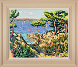 Terence Clarke, Original oil painting on canvas, Island Pines near La Ciotat