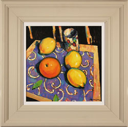 Terence Clarke, Original acrylic painting on canvas, Spanish Lemons