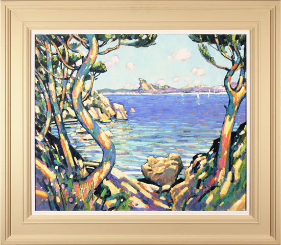 Terence Clarke, Original oil painting on canvas, Golden Afternoon, Cote D'Azur