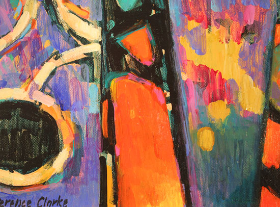 Terence Clarke, Original acrylic painting on canvas, Magnolias  Signature image. Click to enlarge