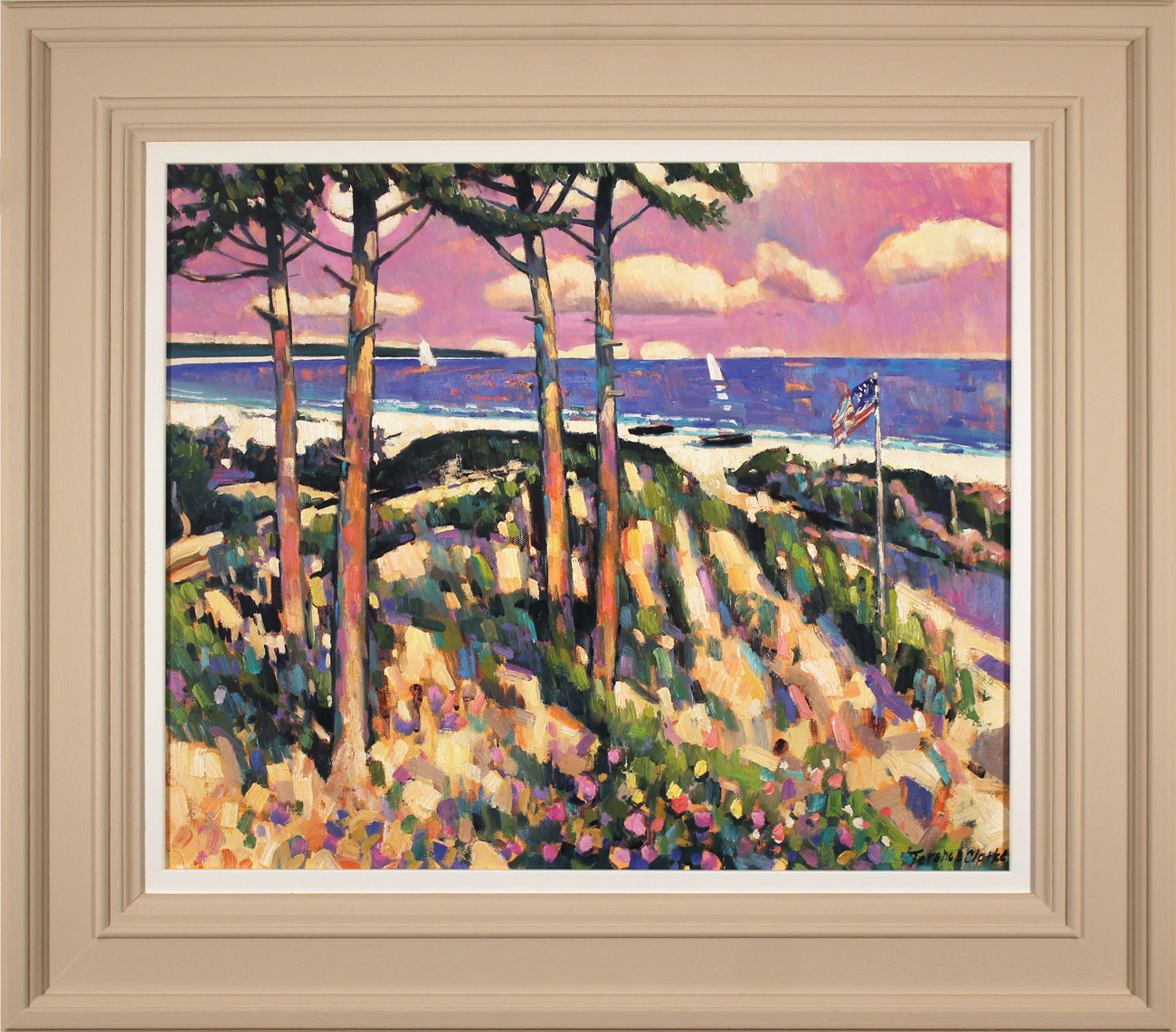 Terence Clarke, Original oil painting on canvas, Moonrise, Cape Cod Click to enlarge