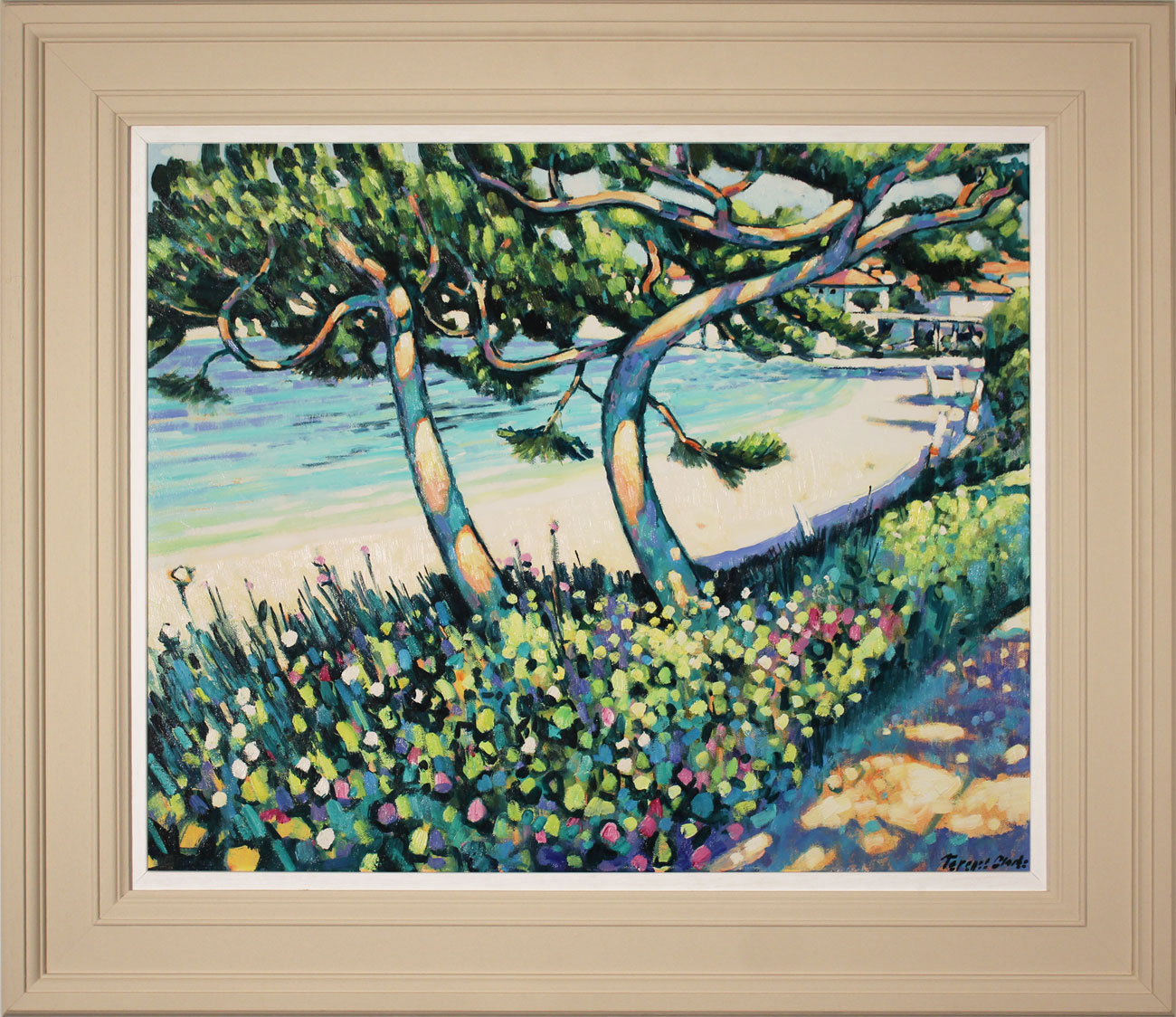 Terence Clarke, Original acrylic painting on canvas, Pine Shadows, Cap Ferrat Click to enlarge