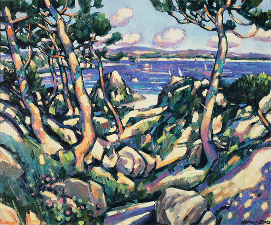 Terence Clarke, Original oil painting on canvas, Wild Pines near Theoule sur Mer No frame image. Click to enlarge