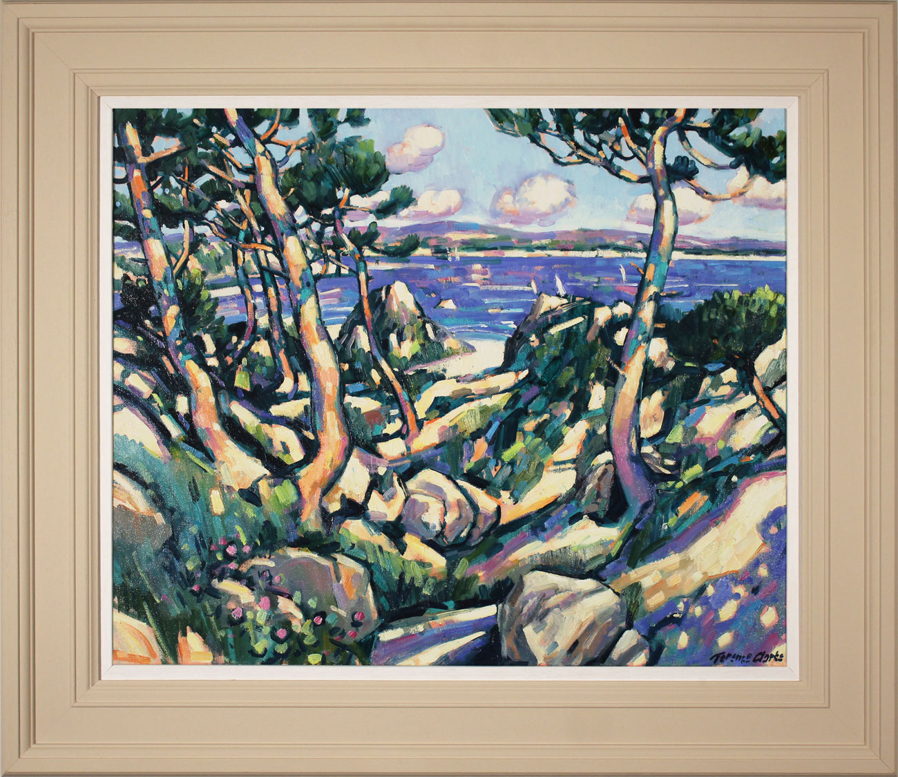 Terence Clarke, Original oil painting on canvas, Wild Pines near Theoule sur Mer Click to enlarge