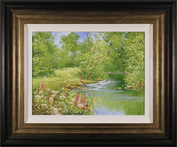 Terry Evans, Original oil painting on canvas, Spring by the Beck