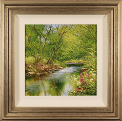 Terry Evans, Original oil painting on canvas, Beside the Beck, Yorkshire Dales