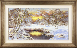 Terry Evans, Original oil painting on canvas, Winter's Glory, Yorkshire Dales