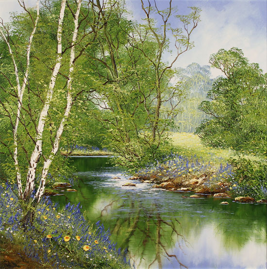 Terry Evans, Original oil painting on canvas, Yorkshire Wood