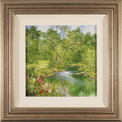 Terry Evans, Spring Reflections, Original oil painting on panel