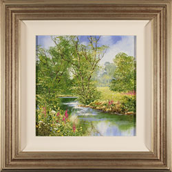 Terry Evans, Original oil painting on panel, Spring by the River