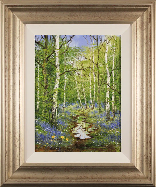 Terry Evans, Original oil painting on canvas, Bluebell Wood