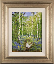 Terry Evans, Bluebell Wood, Original oil painting on canvas