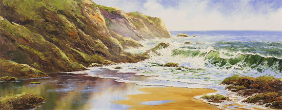 Terry Evans, Original oil painting on canvas, Crashing Waves No frame image. Click to enlarge