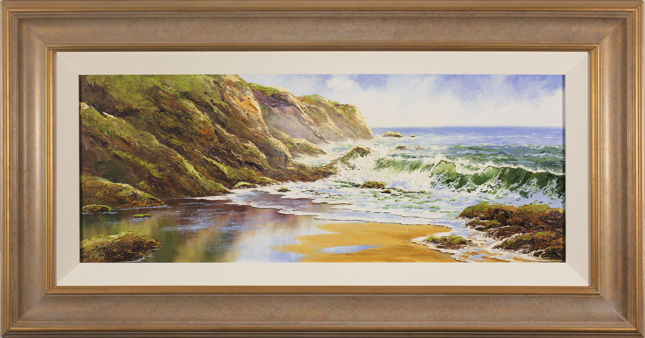 Terry Evans, Original oil painting on canvas, Crashing Waves Click to enlarge