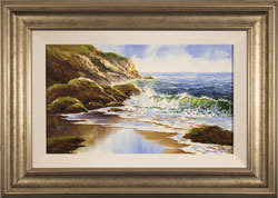 Terry Evans, Crashing Tides, Original oil painting on panel