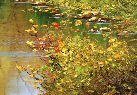 Terry Evans, Original oil painting on canvas, Autumn Gold Signature image. Click to enlarge