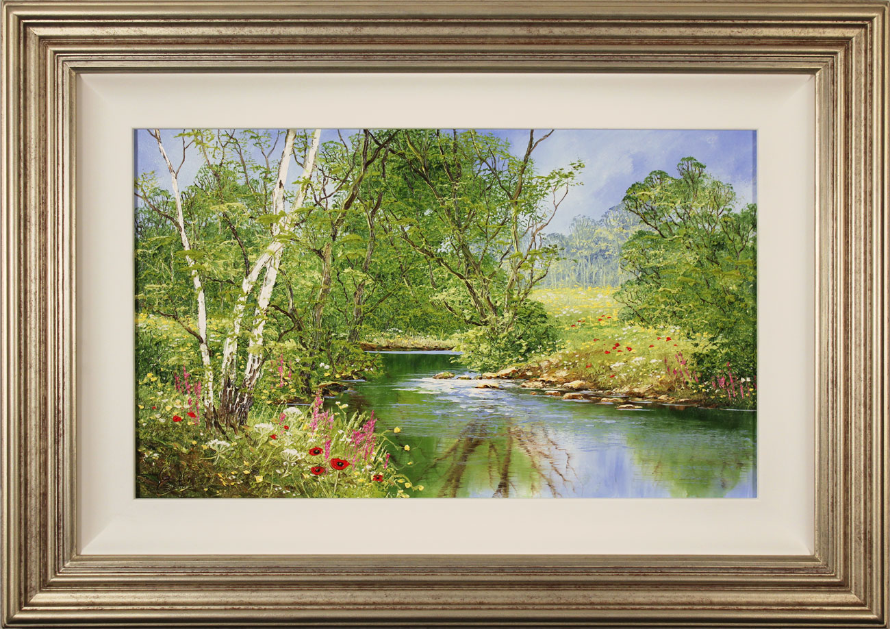 Terry Evans, Original oil painting on canvas, Peaceful Midsummer  Click to enlarge