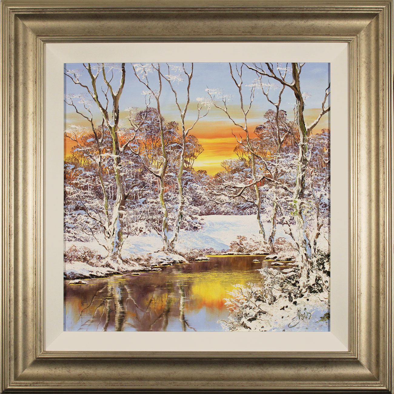 Terry Evans, Original oil painting on canvas, Winter Walk, Yorkshire Dales Click to enlarge