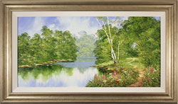 Terry Evans, Original oil painting on canvas, Around the Bend Medium image. Click to enlarge