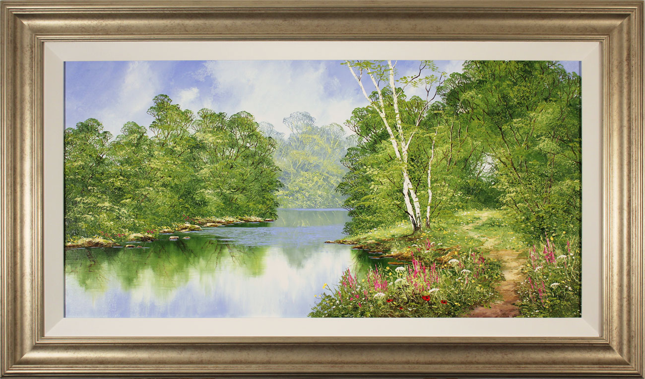 Terry Evans, Original oil painting on canvas, Around the Bend Click to enlarge