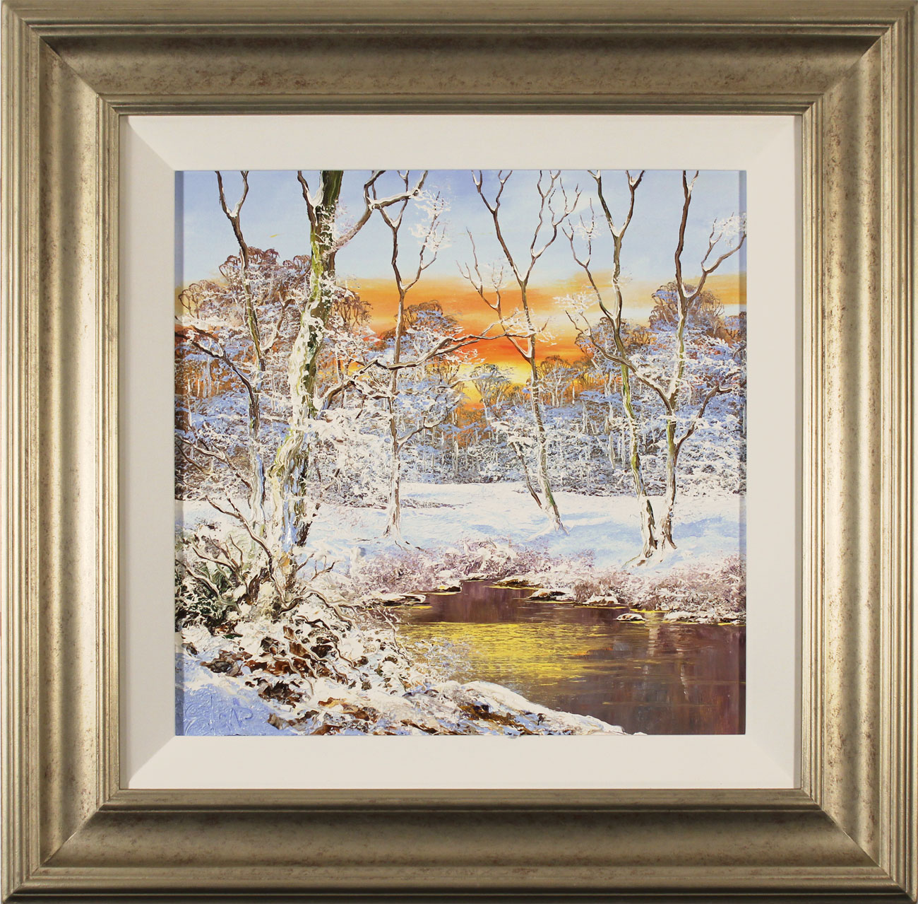 Terry Evans, Original oil painting on canvas, Winter Wood Click to enlarge